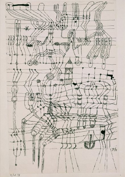 Klee, Paul: Drawing Knotted in the Manner of a Net. Fine Art Print/Poster (5002)
